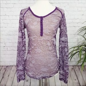 Free People Tops - FREE PEOPLE Intimately purple long sleeve top